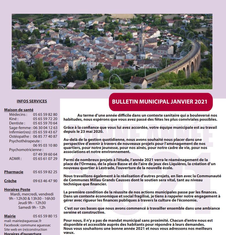 Image pour le bulletin d'Aguessac de 2021